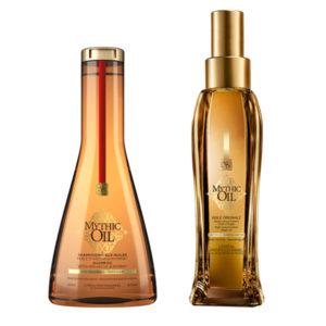 Mythic Oil Huile Originale & Δώρο Mythic Oil Shampoo για χονδρά μαλλιά