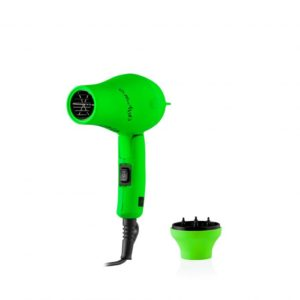 Gettin' Fluo Folding Mini Hair Dryer Green 1200W Travel Size