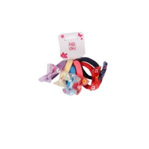 Ro Accessories Παιδικό Λάστιχο Φιογκακι Σετ 6 τμχ