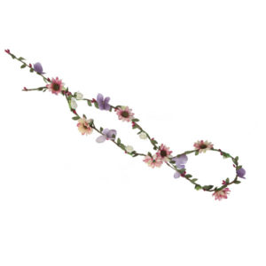 Ro Accessories Κορδέλα σχοινί με λουλούδια