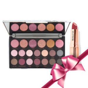 Xmas Revolution Makeup Gift (Jewel Opulent Palette&Renaissance Lipstick Fortify)