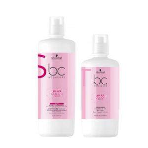 Schwarzkopf Professional Bonacure pH 4.5 Color Freeze Micellar Shampoo (1000ml)+ Mask (750ml)